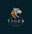 tiger head logo icon vector image