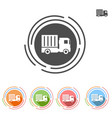 truck icon in a flat style vector image vector image
