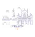 vitoria-gasteiz city skyline vector image vector image