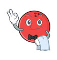 waiter bowling ball character cartoon vector image vector image