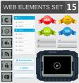 Web elements set 15 vector image