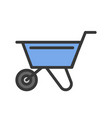 wheelbarrow filled outline icon handyman tool and vector image