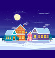 winter landscape composition vector image vector image