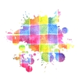 colorful watercolor stain for design vector image