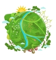 Eco friendly Ecology design Green Planet vector image