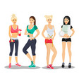 beautiful sport fitness girls models young woman vector image