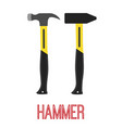 hammer construction tool work equipment vector image