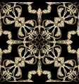 abstract gold arabesque paisley seamless pattern vector image vector image