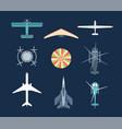 aircraft - set modern elements vector image