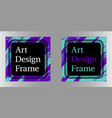 art frame art graphics in purple-turquoise vector image