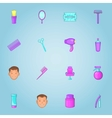 Barbershop icons set cartoon style vector image vector image