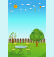 beautiful gardening vector image