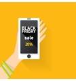 black friday online sale concept vector image