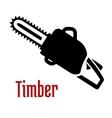 Black petrol chainsaw logo or emblem vector image