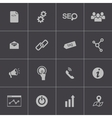 Black seo icons set