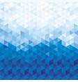 blue crystal pattern background vector image