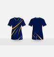 blue layout e-sport t-shirt design template vector image vector image