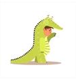 Boy Desguised As Crocodile vector image vector image