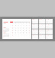 calendar for 2021 new year in clean minimal table vector image vector image