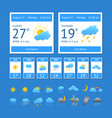 cartoon weather color element set vector image vector image