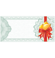 christmas gift certificate vector image vector image