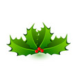 christmas mistletoe celebration icon vector image