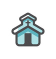 church catholic house prayer icon vector image vector image