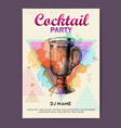 cocktail irish coffee on watercolor background vector image vector image