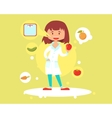 Cute woman nutritionist vector image vector image