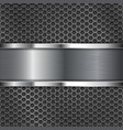dark metal perforated background with stainless vector image vector image