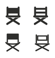 Director chair icon set vector image