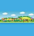 doodle children playing in park vector image vector image