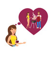 dreaming about romantic weekend flat color vector image