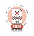 error 404 infographic vector image