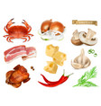 food flavors and seasonings for snacks natural vector image vector image