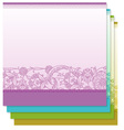 Four tiny floral backgrounds vector image vector image