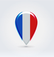 French icon point for map vector image vector image