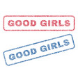 good girls textile stamps vector image vector image