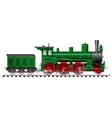 green steam locomotive with tender vector image vector image
