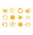 hand drawn suns vector image