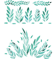 Hand Drawn watercolor leaf vector image vector image