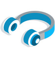 headphones flat icon music and technology sound vector image