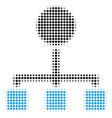 hierarchy halftone icon vector image vector image