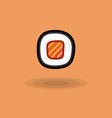 icon japanese fresh roll with salmon vector image