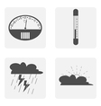 icon set with thermometer weather vector image