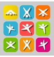 Icons of modern people leading active lifestyle vector image