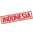 indonesia red square stamp vector image vector image