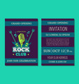 invitation card template opening rock music vector image vector image
