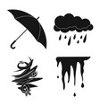 isolated object of weather and climate symbol vector image vector image