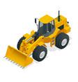 isometric yellow bulldozer vector image vector image